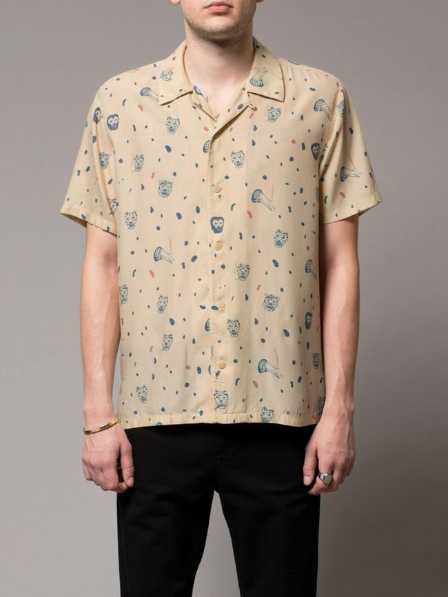 Chemise manches courtes à motifs en coton bio - arvid misfit - Nudie Jeans