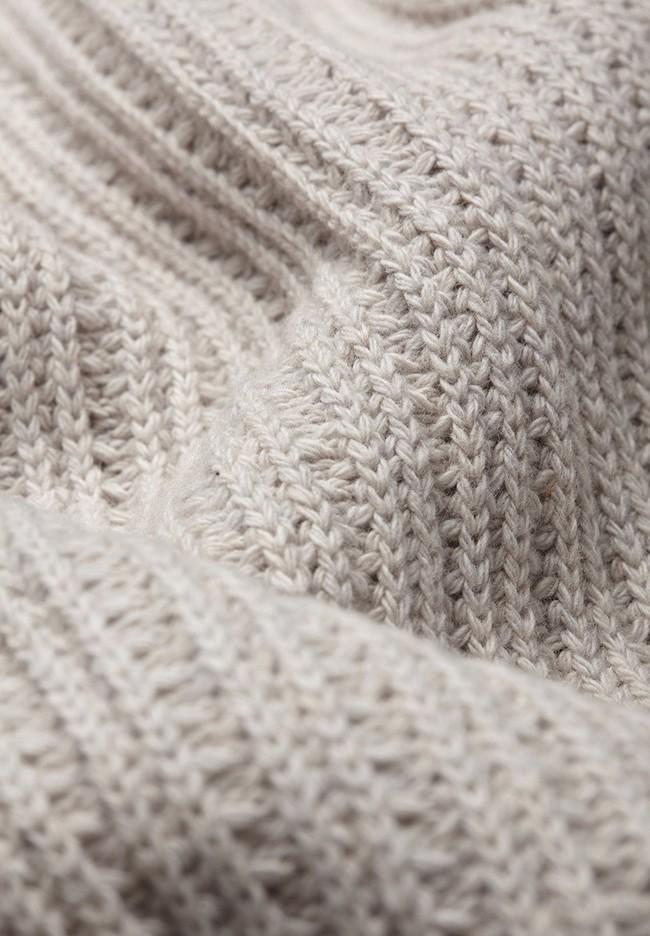 Pull écru maille en coton et laine bio - hinaa - Armedangels num 4