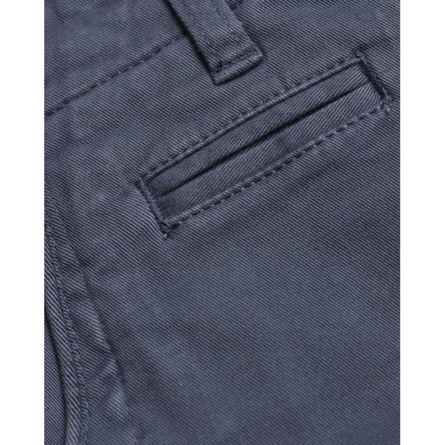 Short chino bleu en coton bio - Knowledge Cotton Apparel num 2