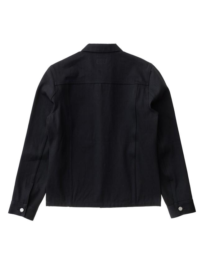 Veste en jean selvage noir en coton bio - ronny - Nudie Jeans num 4