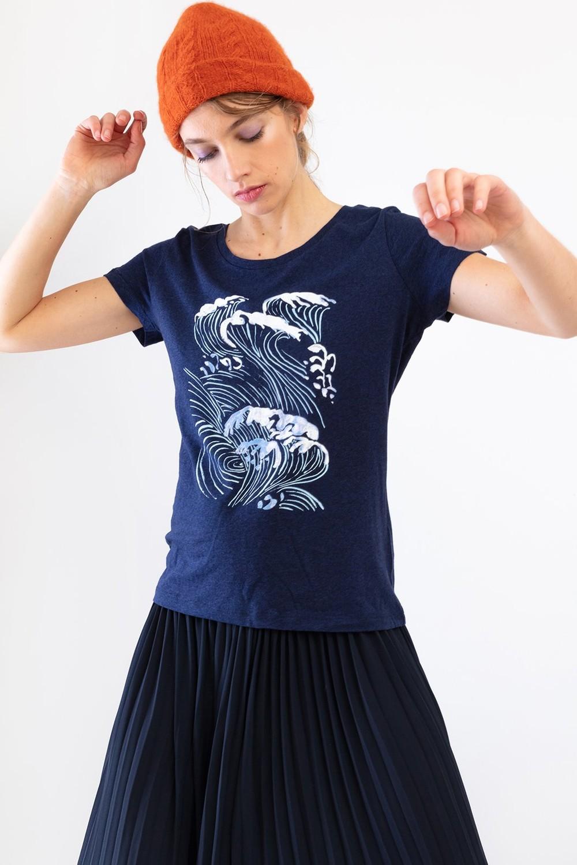 T-shirt méditerranée - Bleu Tango