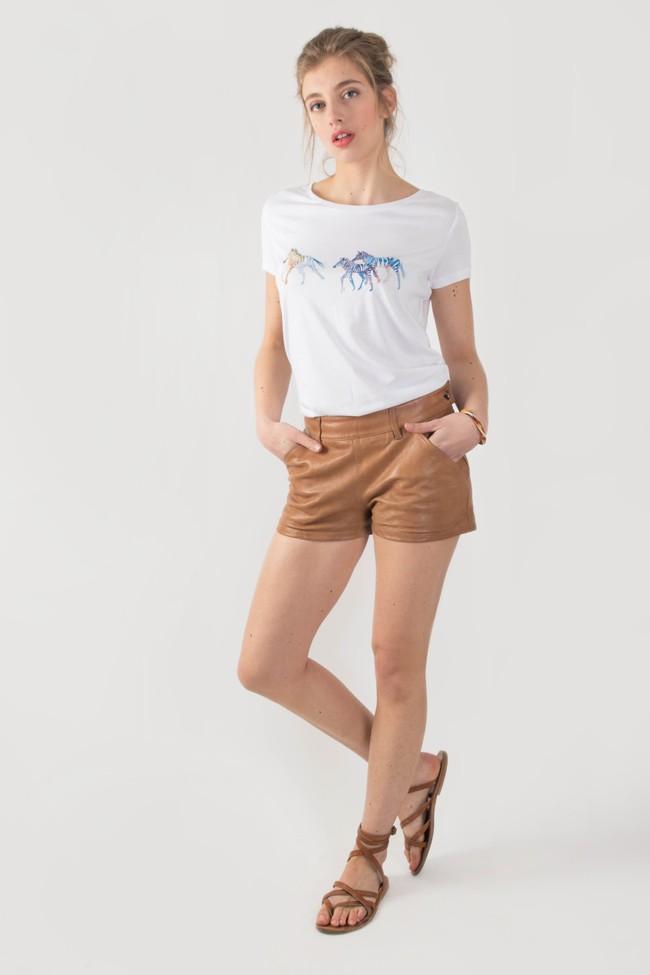 T-shirt motif zèbre - Bleu Tango num 1
