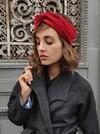 Bandeau cheveux velours rouge - Les Récupérables - 1