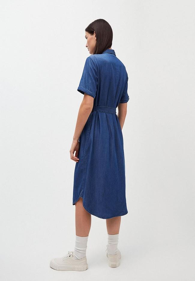 Robe col chemise bleu jean en tencel - maaisa - Armedangels num 2