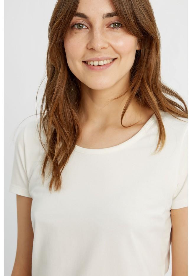 T-shirt col rond blanc en coton bio - gaia - People Tree num 2