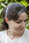 Boucles d'oreilles feuilles hoya kerrii - argent recyclé - Elle & Sens - 3