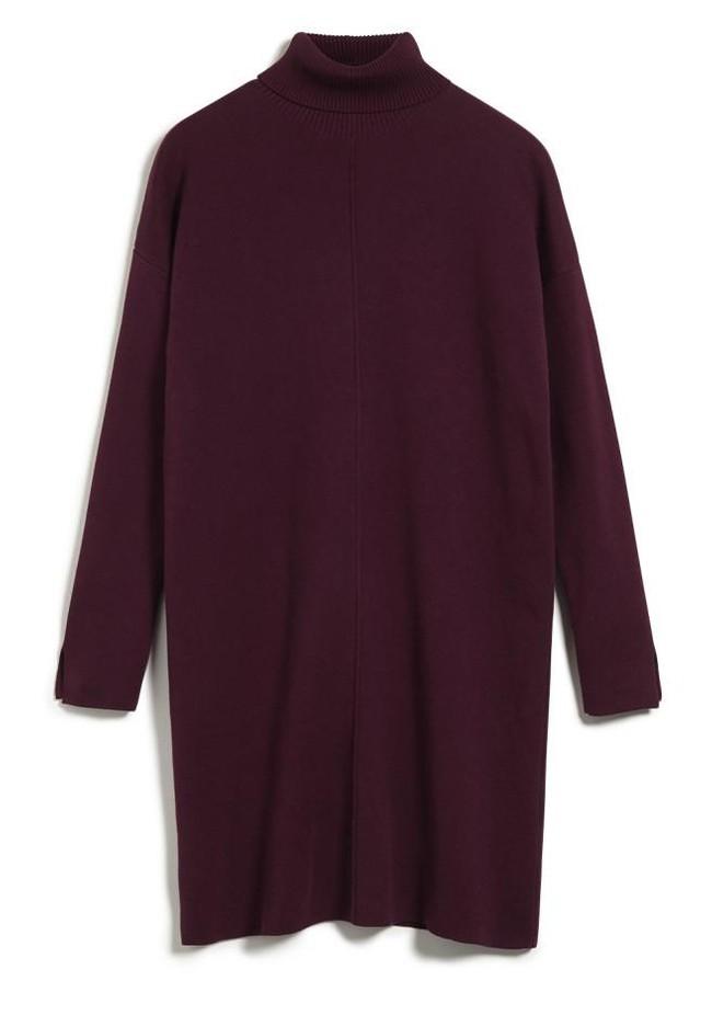 Robe pull bordeaux en coton bio - sienna - Armedangels num 3