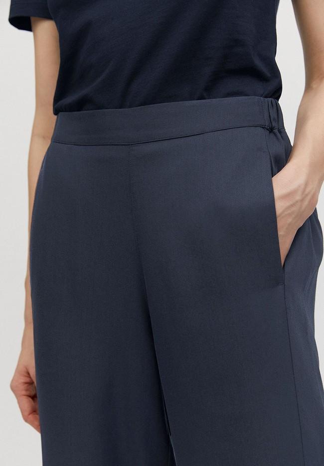 Pantalon ample bleu nuit en tencel - kamalaa - Armedangels num 3