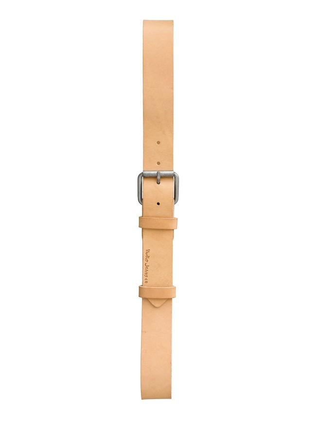 Ceinture beige en cuir tanné végétal - pedersson - Nudie Jeans