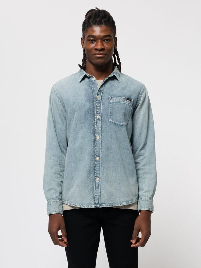 Chemise jean en coton bio - albert - Nudie Jeans