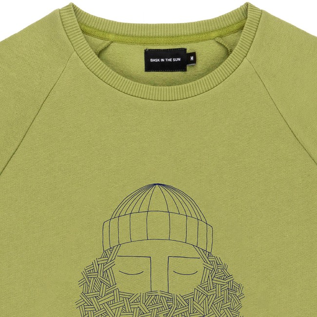 Sweat en coton bio olive smoking pipe - Bask in the Sun num 1