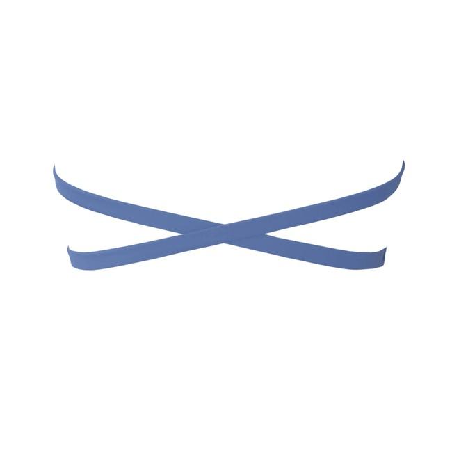 Haut de bikini bandeau bleu en polyamide recyclé - Ocealah num 3