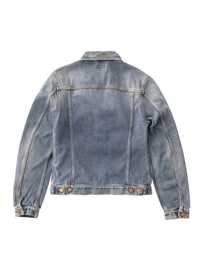 Veste en jean coton bio - billy shimmering - Nudie Jeans num 5