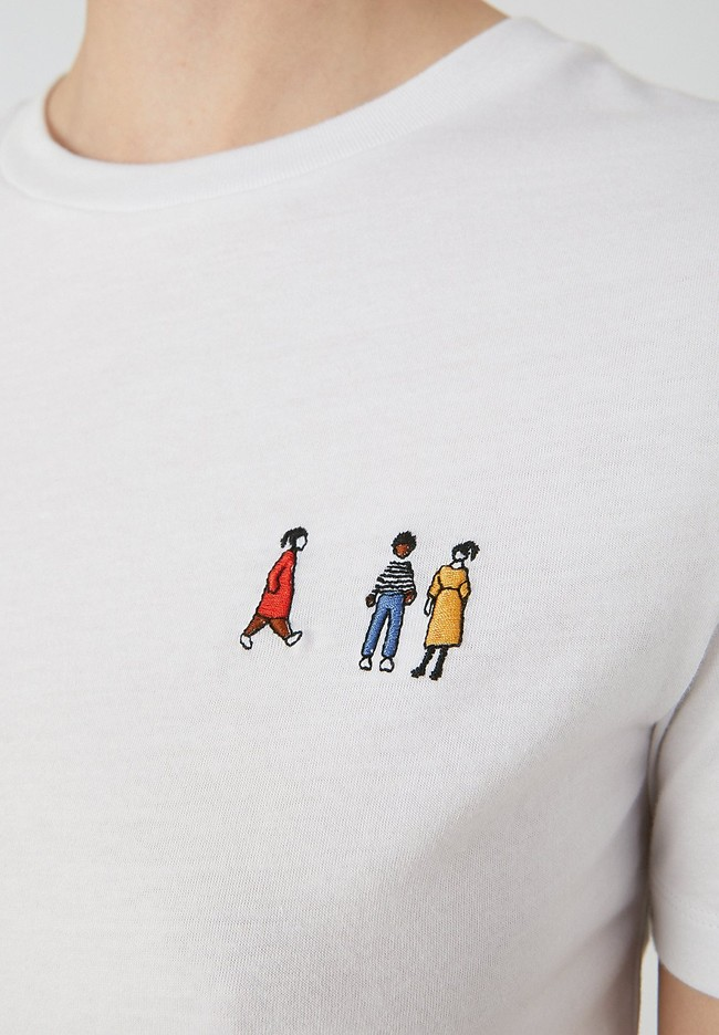 T-shirt blanc en coton bio - lidaa girls - Armedangels num 1