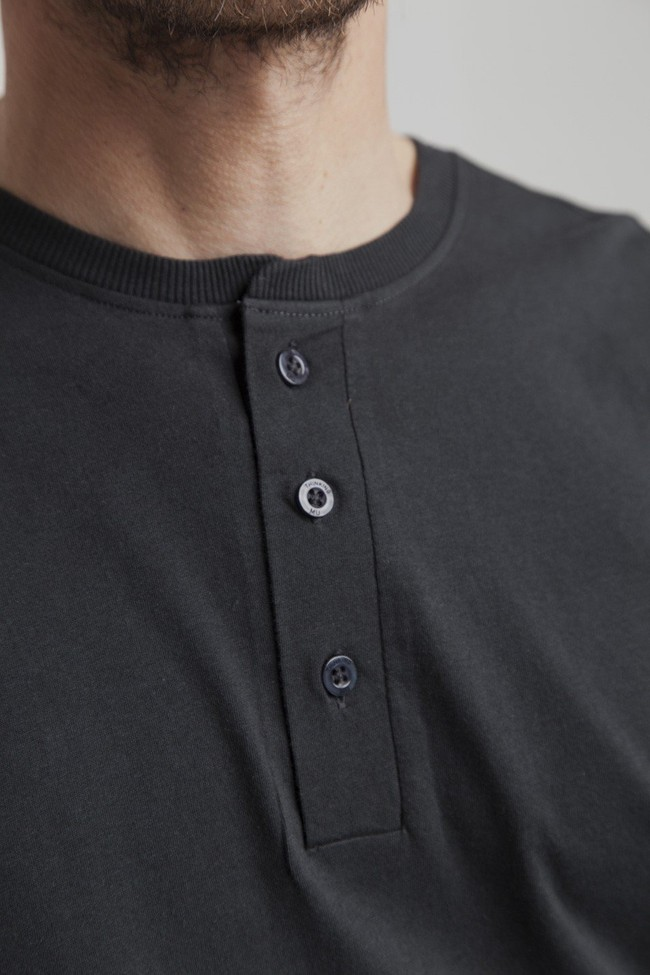 T-shirt manches longues noir en coton bio - brad - Thinking Mu num 1