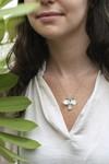 Collier fleur barleria en argent recyclé - Elle & Sens - 4