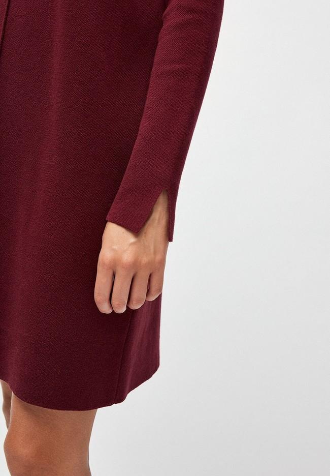 Robe pull bordeaux en coton bio - sienna - Armedangels num 2