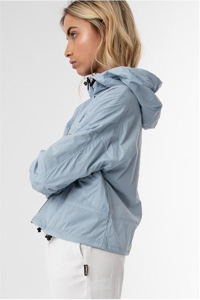 Coupe-vent bleu clair en nylon recyclé - alessandra - Ecoalf num 3
