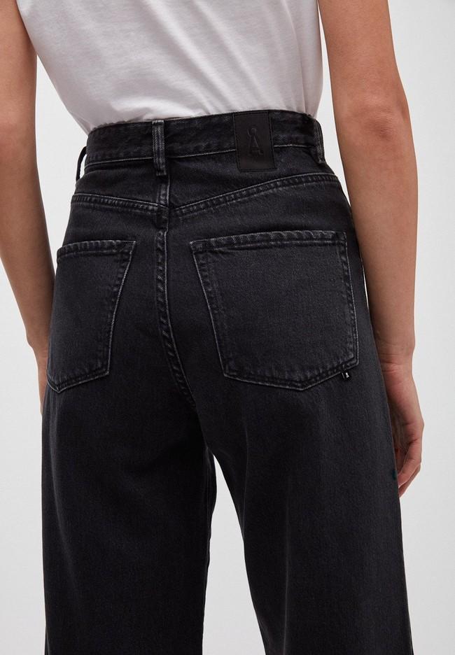 Jean ample noir en coton bio - nessaa cropped - Armedangels num 2