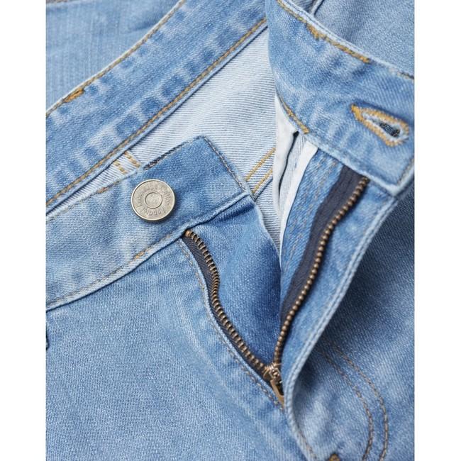Short en jean bleu en coton bio - birch - Knowledge Cotton Apparel num 1