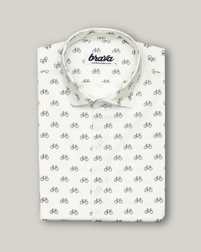 Fixed gear rider printed shirt - Brava Fabrics num 1