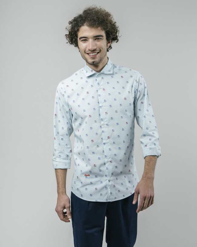90's diskettes printed shirt - Brava Fabrics