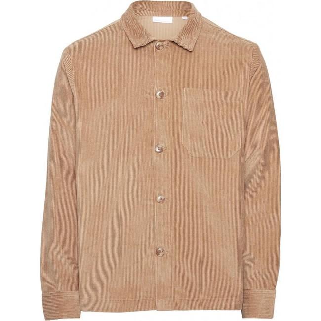 Veste velours beige en coton bio - Knowledge Cotton Apparel