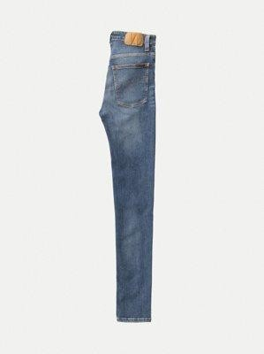Jean skinny taille haute bleu clair délavé - hightop tilde mid indigo - Nudie Jeans num 5