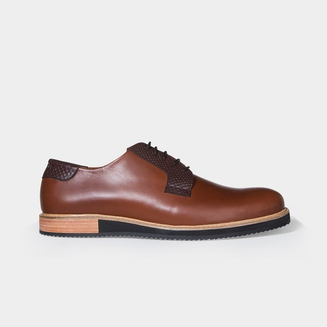 Derbies alpha low - camel - Subtle