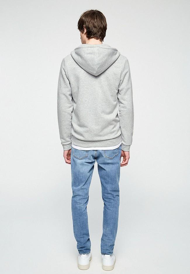 Veste zippée grise en coton bio et polyester recyclé - joaa - Armedangels num 2