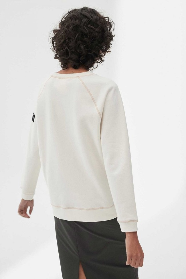 Sweat imprimé blanc en polyester recyclé - ross basic because - Ecoalf num 2