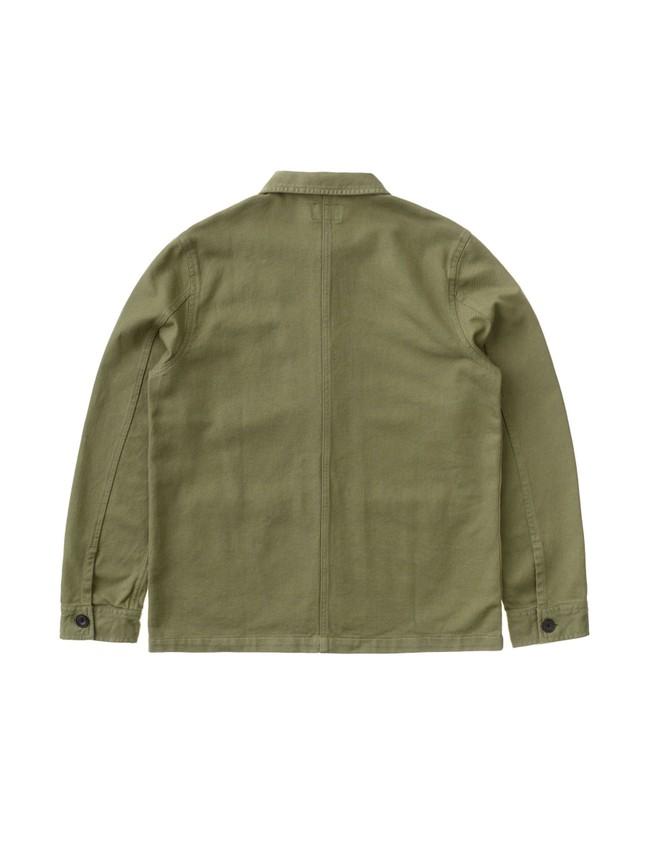 Veste de travail verte en coton bio - barney worker - Nudie Jeans num 5