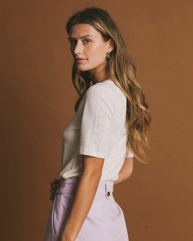 T-shirt écru en tencel et coton bio - mara - Thinking Mu num 3