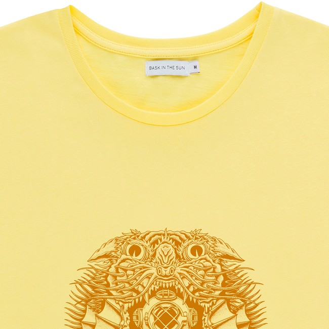 T-shirt en coton bio yellow creature - Bask in the Sun num 1
