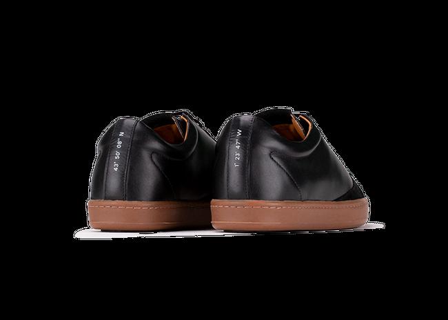 Chaussure en gravière cuir noir / semelle miel - Oth num 2