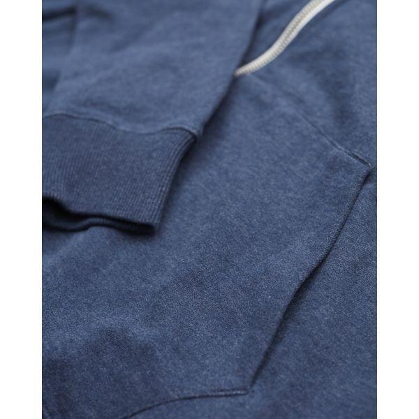 Veste zippée bleue en coton bio - Knowledge Cotton Apparel num 2