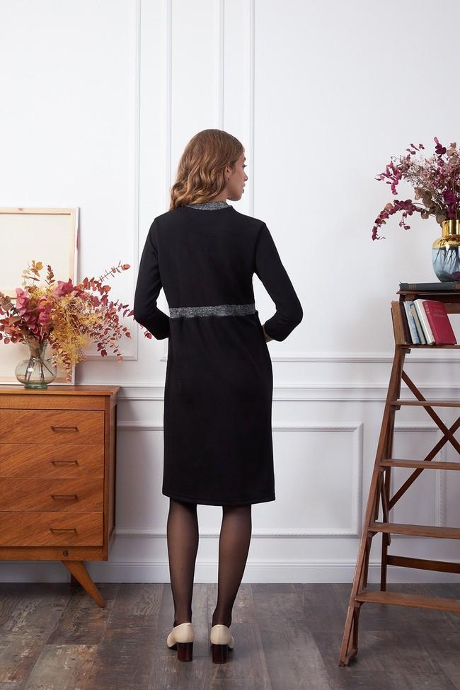 Robe jersey noir paillettes - Les Récupérables num 1