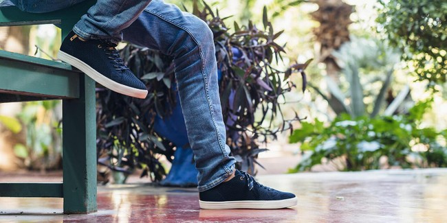 Chaussures recyclées cannon knit navy - Saola num 1
