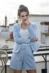 Short tailleur rome bleu pastel - 17h10 - 1