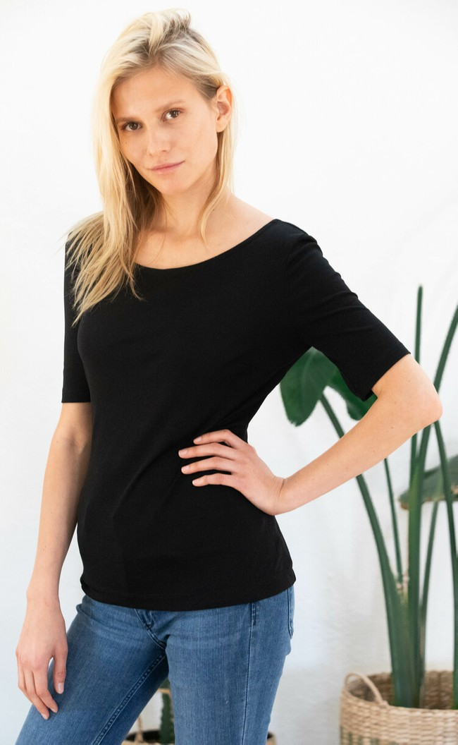 T-shirt jasmin noir - Avani