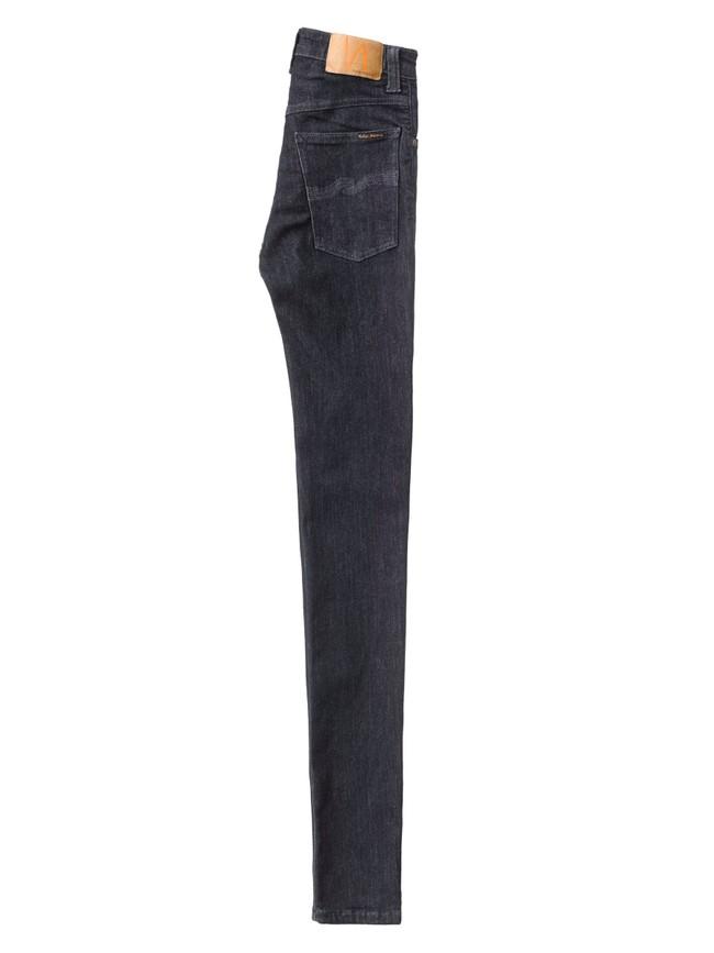 Jean skinny taille haute brut en coton bio - hightop tilde dark navy - Nudie Jeans num 6