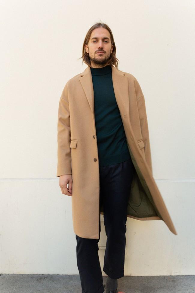 Manteau genoa laine & cachemire - Noyoco num 8