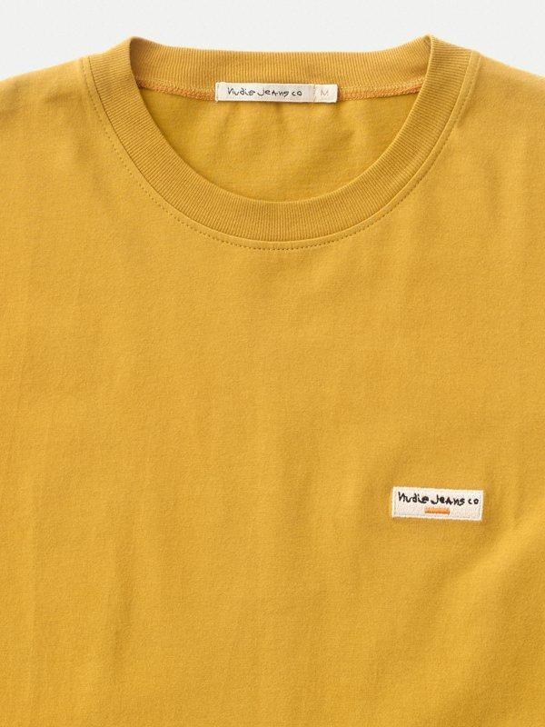 T-shirt jaune en coton bio - daniel - Nudie Jeans num 3
