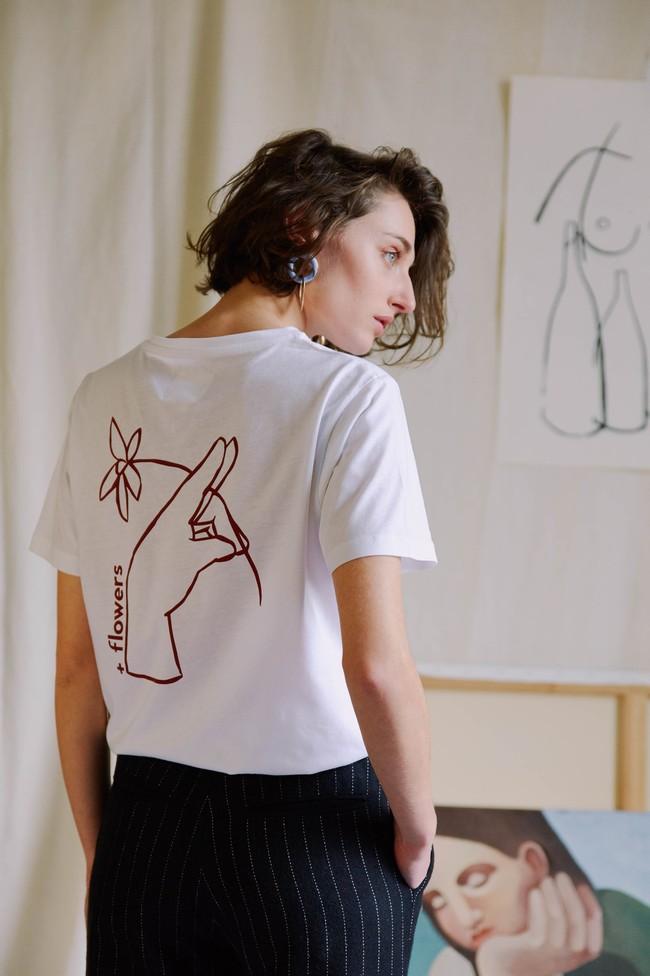 T-shirt coton bio - noyoco x diane - Noyoco num 8