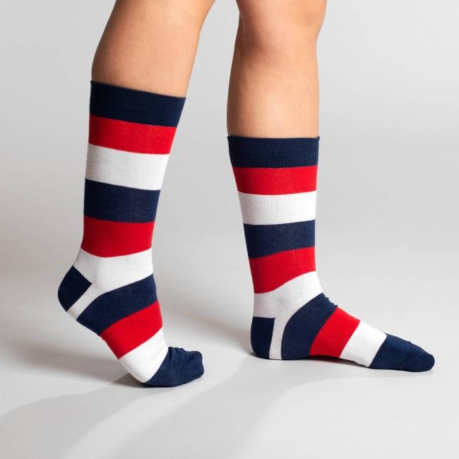 Chaussettes hautes rayées en coton bio - Dedicated num 1