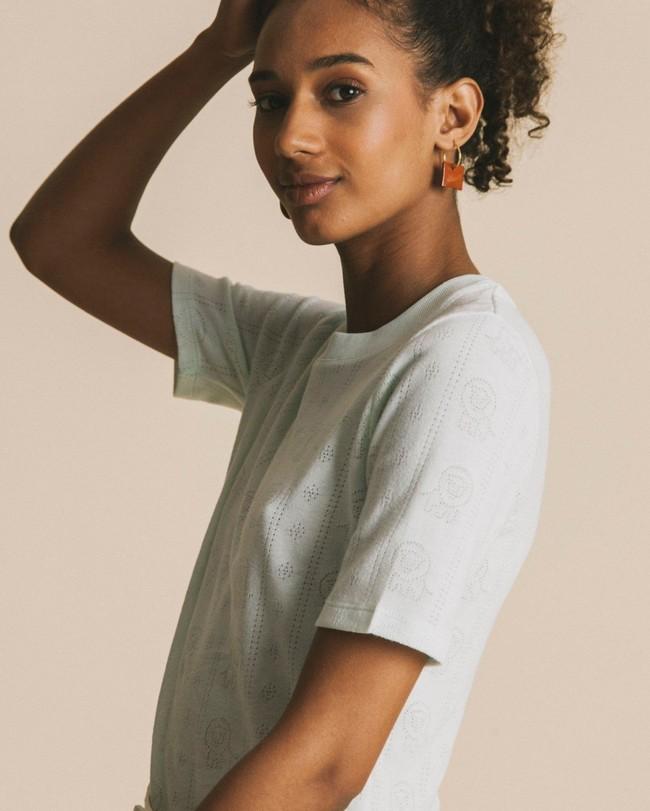 T-shirt bleu ciel en tencel et coton bio - mara - Thinking Mu num 1