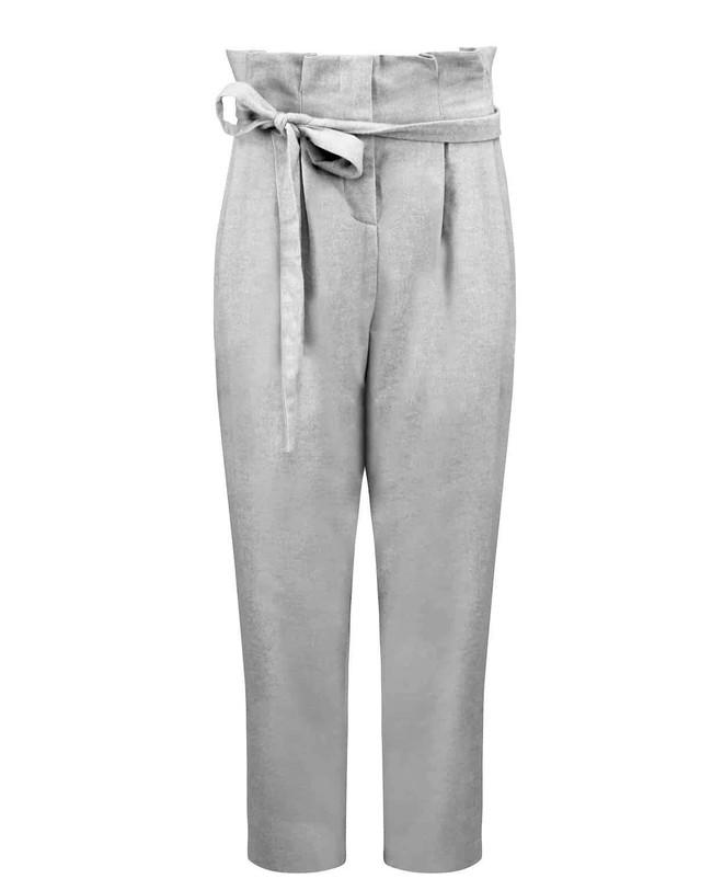 Pantalon à pinces gris en coton bio - torbay - Jan'n June