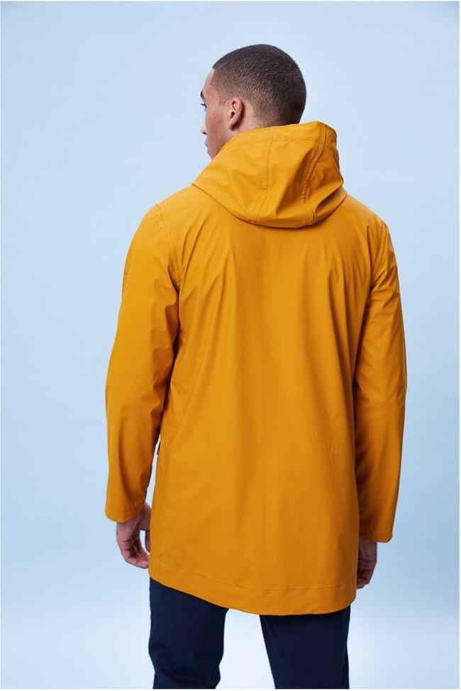 Imperméable moutarde en polyester recyclé - abram - Ecoalf num 2