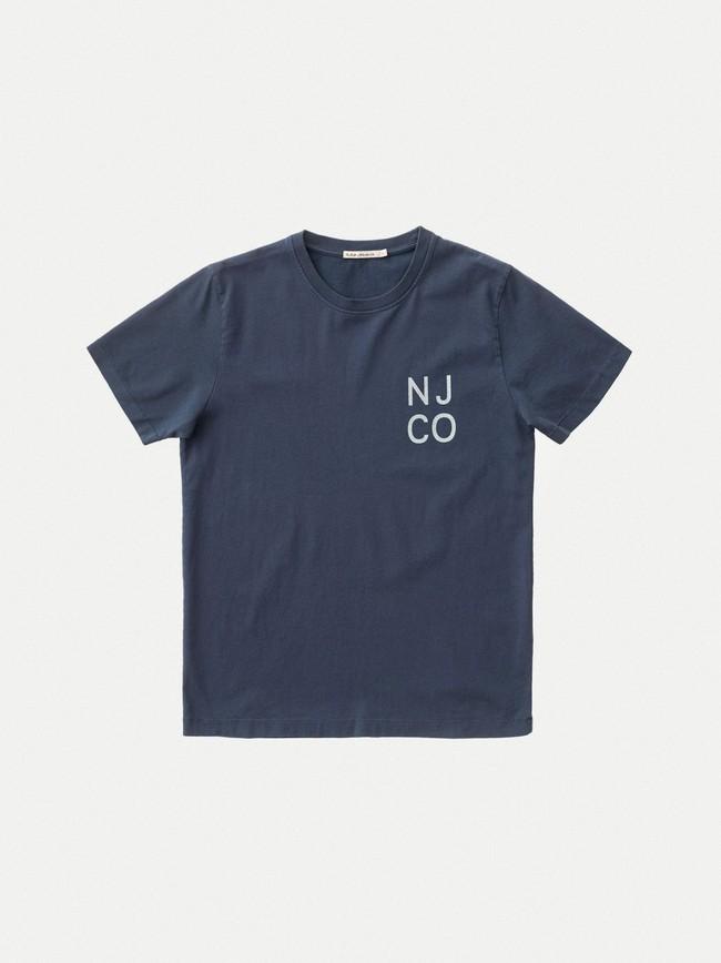 T-shirt bleu marine en coton bio - roy - Nudie Jeans num 3