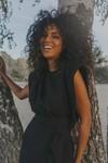 Robe lison noir en tweed - Maison People - 1